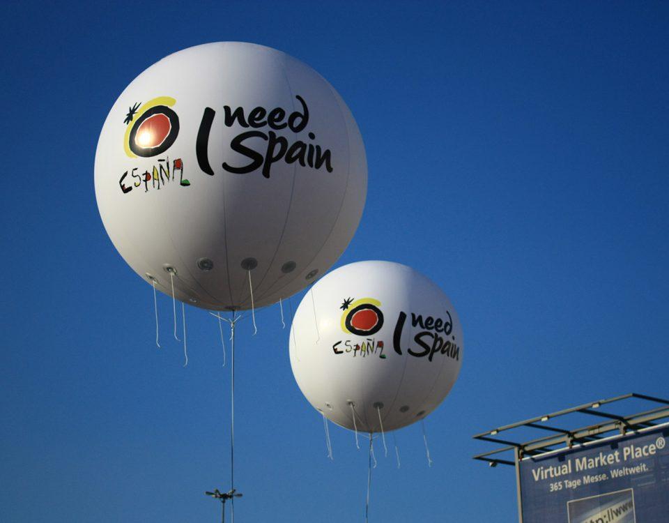 I need Spain - Gasballons für Spanien