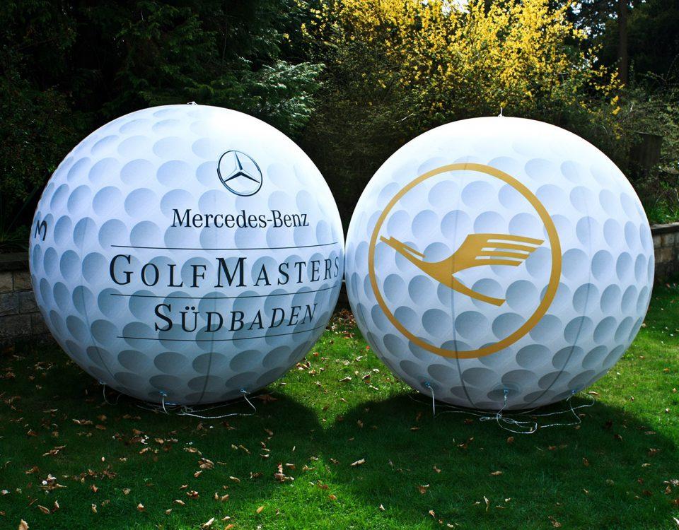 Mercedes-Benz und Lufthansa vertrauen bei Golfturnierwerbung auf Berlin-Zeppelin.