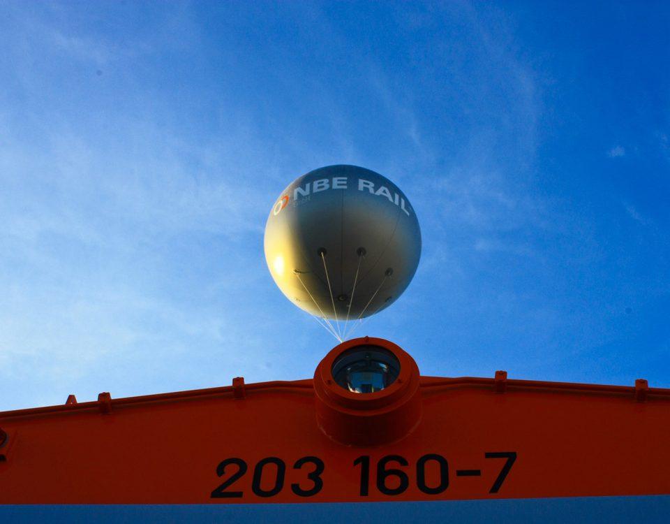 NBE Rail Riesen Heliumballon