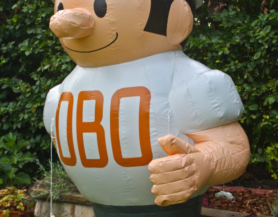Noch eine spezielle Sonderform: Das OBO- Männchen als Kaltluftdisplay.