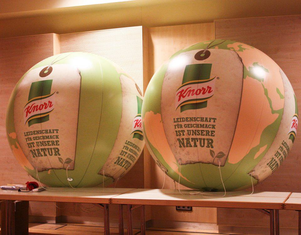 Riesenballons für Knorr