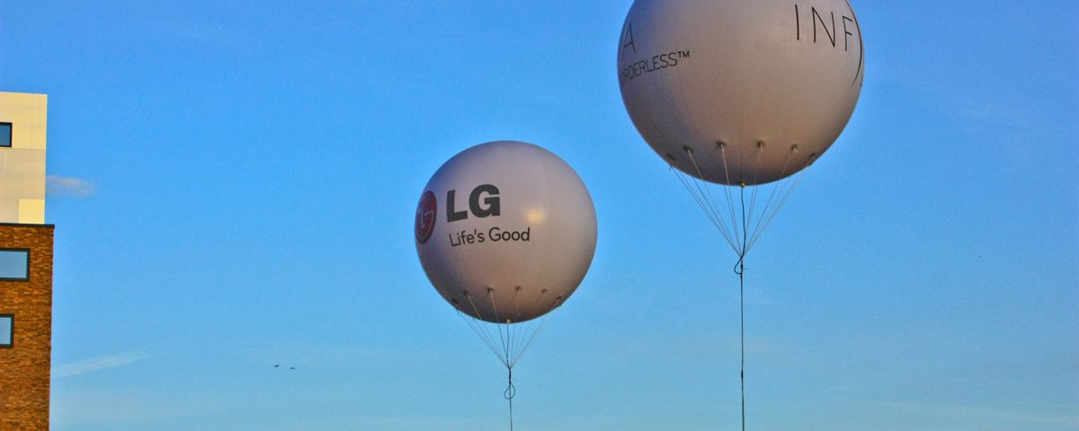 große Helium-Netzballons für LG