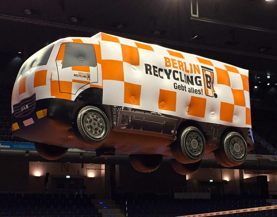 Sonderform-Indoor- und Outdoor-RC-Flugschiff für Berlin Recycling