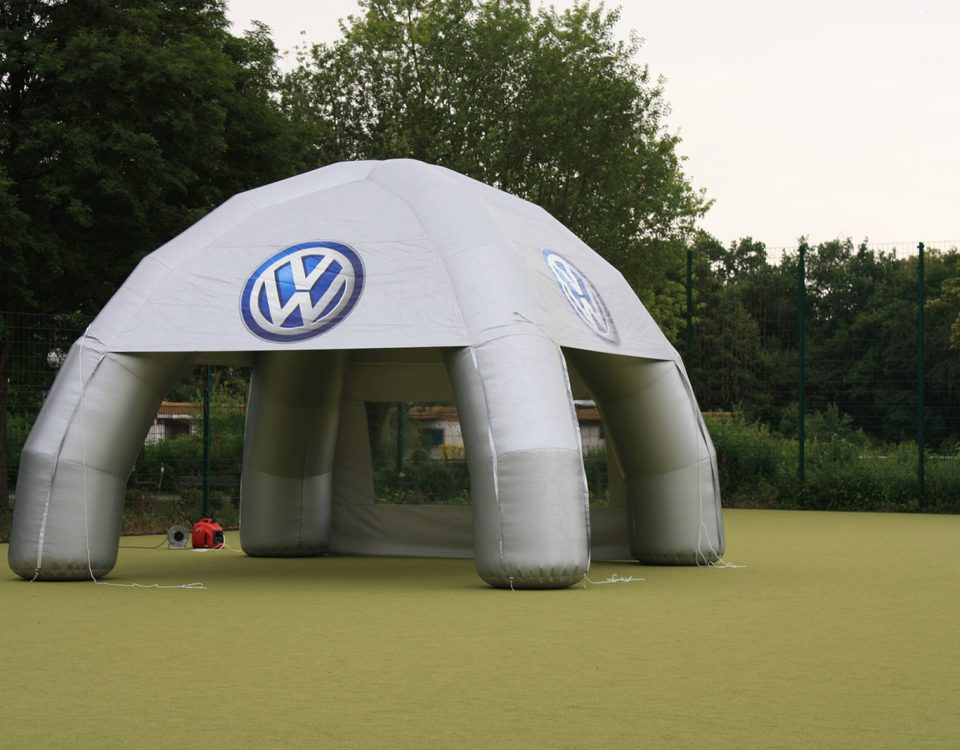 VW - Aufblasbares Messezelt - inflatable Pavillon