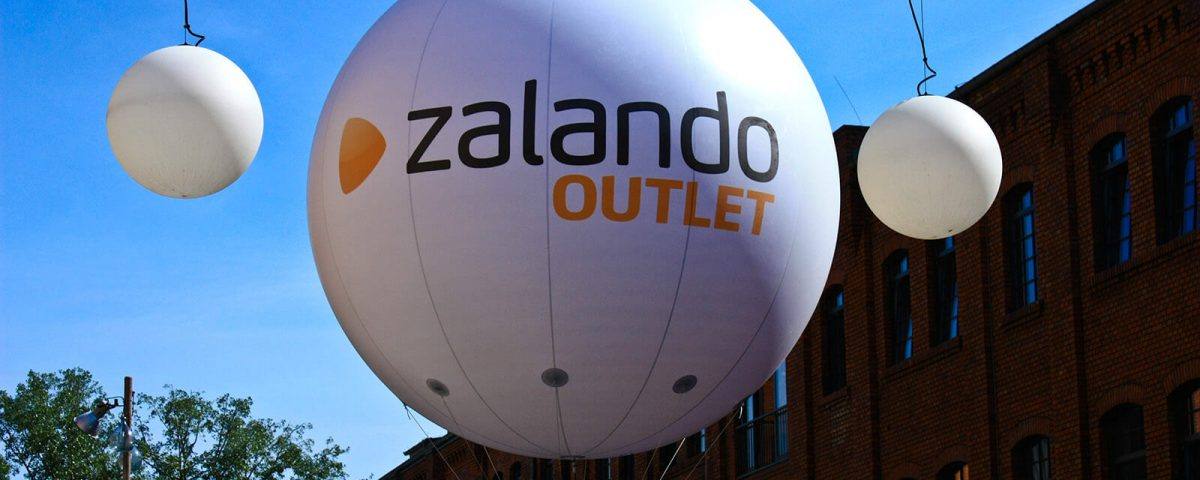 Messebalon für Zalando Outlet