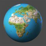 Riesen Globus, Weltkarte