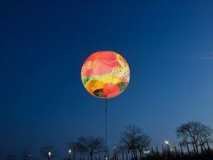 Leuchtballons 12m Höhe