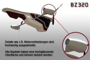 Luftschiff-Bausatz, Detailabbildung, Gestaltungsvorschlag