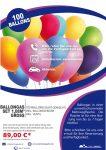 Ballongas Set mit 100 Ballons