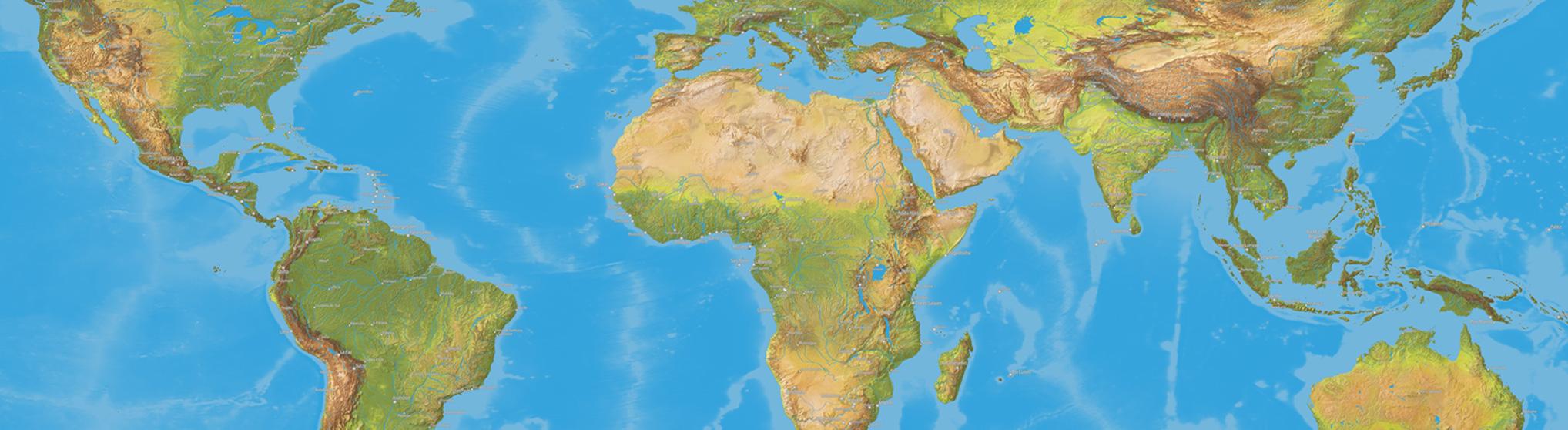 Vegetation Landkarte für Globus