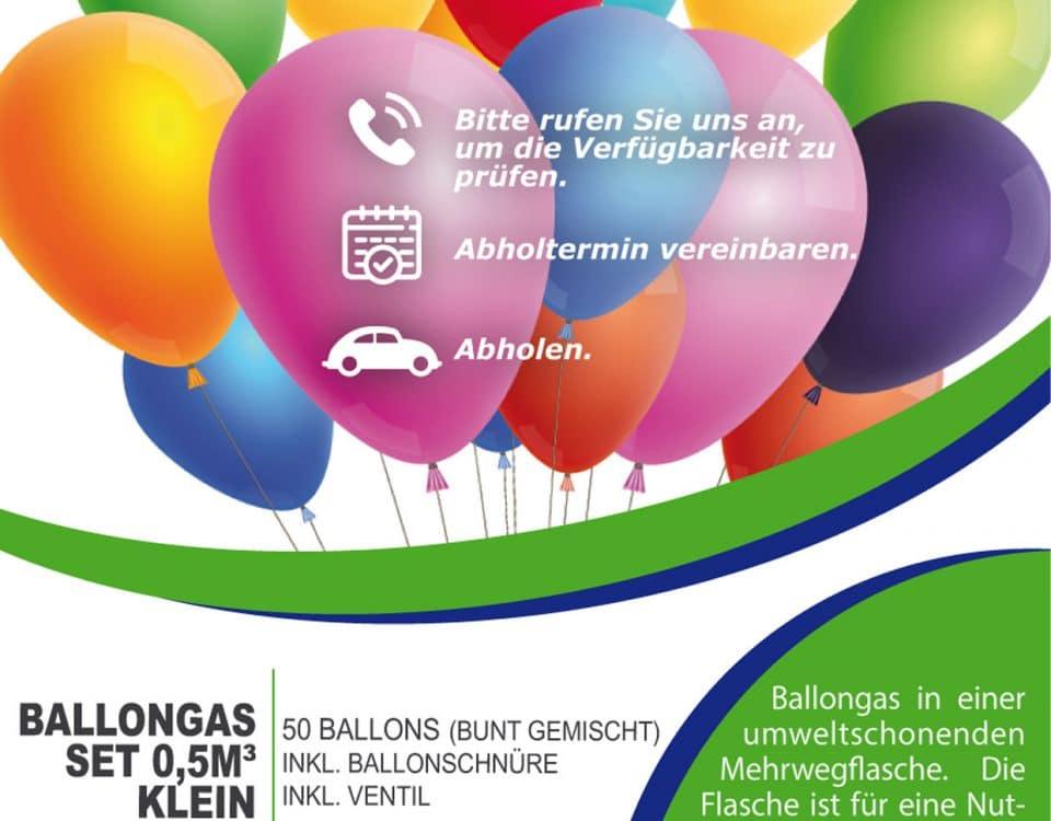 Helium-Ballongas-Set-50 Ballons