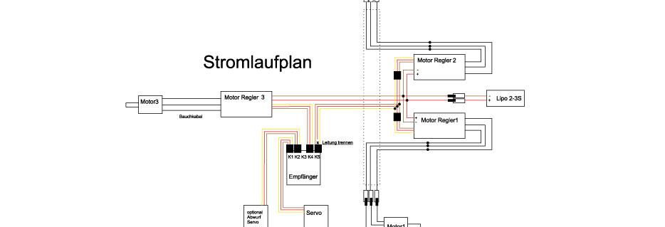 RC-Luftschiff Stromlaufplan