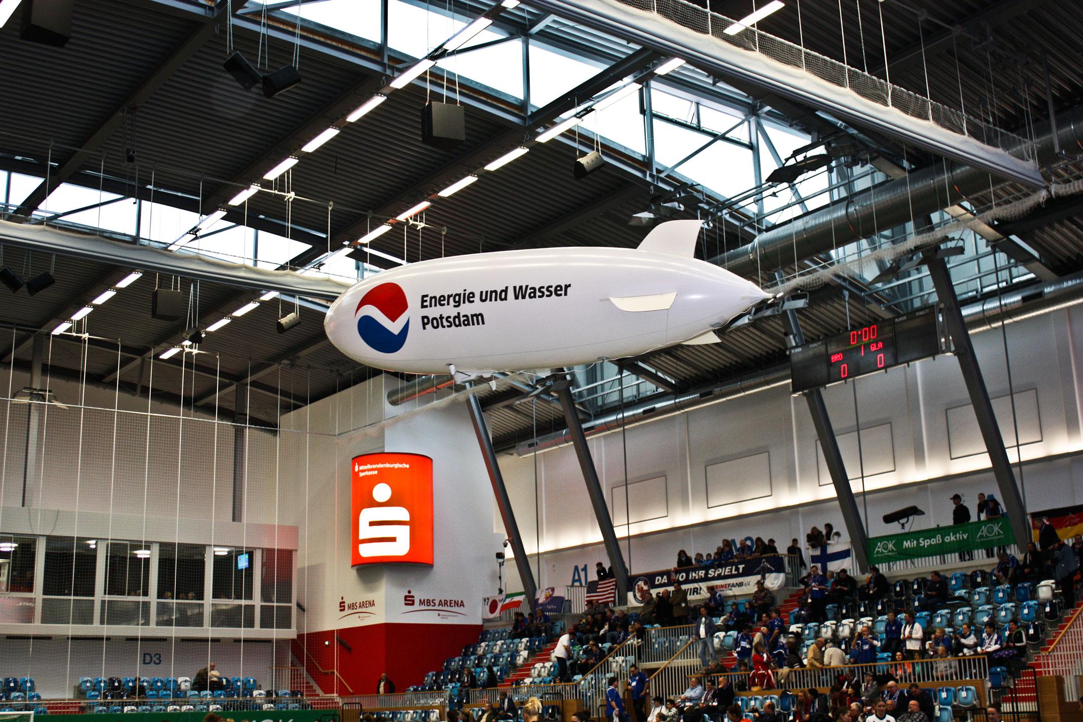 Indoorluftschiff für Sporthallen