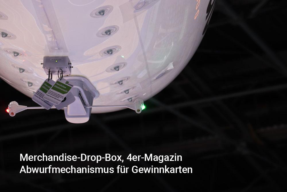 Abwurfmechanismus für Giveaways für RC Luftschiffe