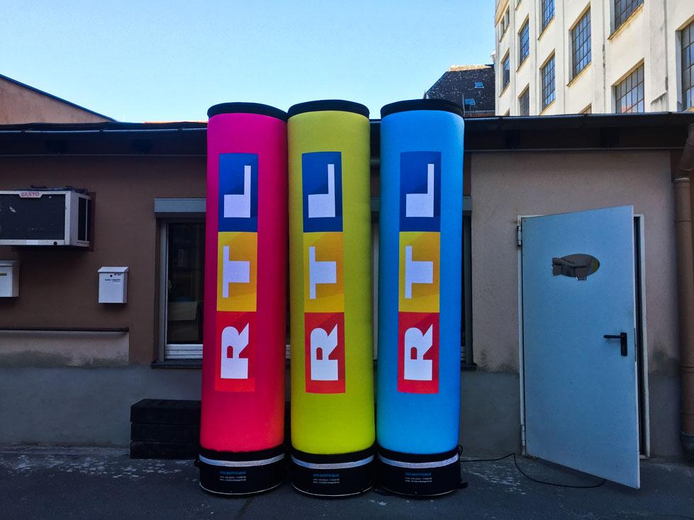 Leuchtsäulen RTL für Promotion